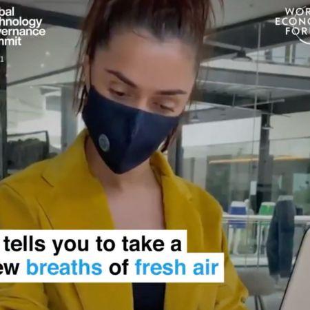 World Economic Forum Promotes 'Smart Mask' that Sends 'Alerts' if You Don't Wear It | Neon Nettle
