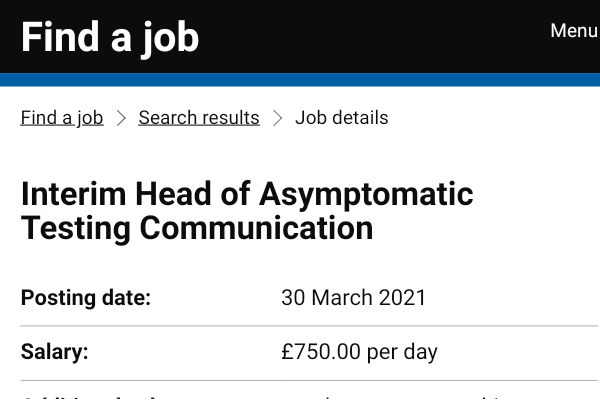 """Luther on Twitter: """"The UK govt have two job ads for 'Head of Communications."""""""